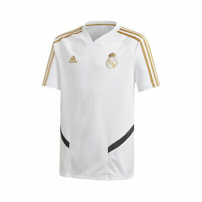 73497f3b Camiseta Adidas Real Madrid Training 2019-2020 Niño White-Dark Football  Gold • 45.95