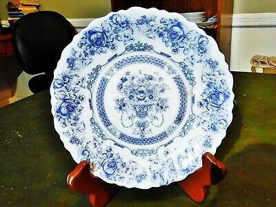 1 New Other Arcopal Honorine Blue & White Milk Glass Salad Plate 7.5 R France • 4.99$