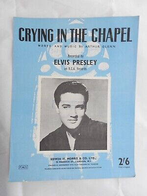 Elvis Presley - Crying In The Chapel single Sheet Music Piano Vocal • 5.99£