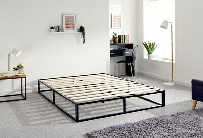 Loft Black Metal Urban Platform Bed- 4ft Small Double, 4ft6 Double, 5ft Kingsize • 134.95£