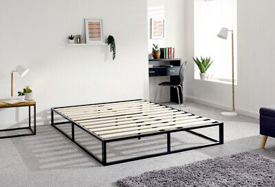 Loft Black Metal Urban Platform Bed- 4ft Small Double, 4ft6 Double, 5ft Kingsize • 115.95£