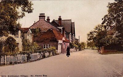 Eddington Village, Near Herne Bay, Kent : Postcard (1909) • 6.95£