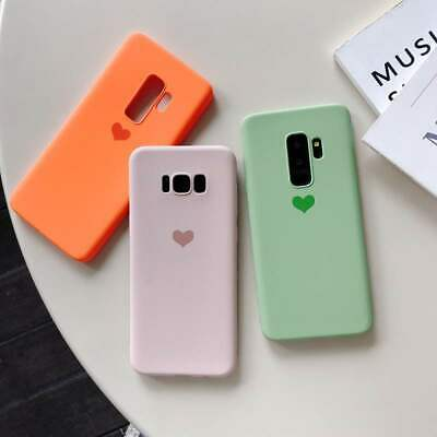 $ CDN4.24 • Buy Matte Cute Heart Soft Silicone Case Cover For Samsung Galaxy S10 S9 Plus Note 8