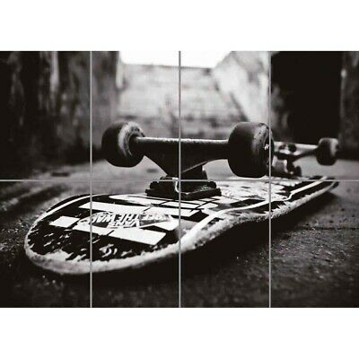 Skateboard Skate Flip Giant Wall Mural Art Poster Picture Print 47x33 Inches • 12.99£
