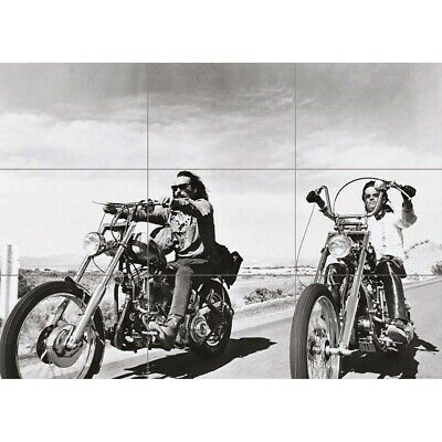 Easy Rider Chopper Motorcycle Giant Wall Mural Art Poster Print 50x35 Inches • 13.99£
