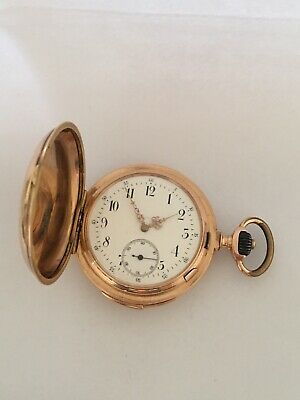 14k Gold Full Hunter LeCoultre & Co. Minute Repeater Antique Pocket Watch • 5,500£