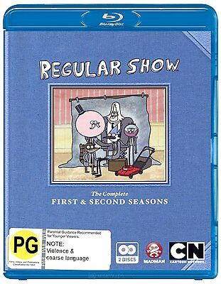 REGULAR SHOW : COMPLETE SEASON 1 & 2   -  Blu Ray - Sealed Region B • 32.99£
