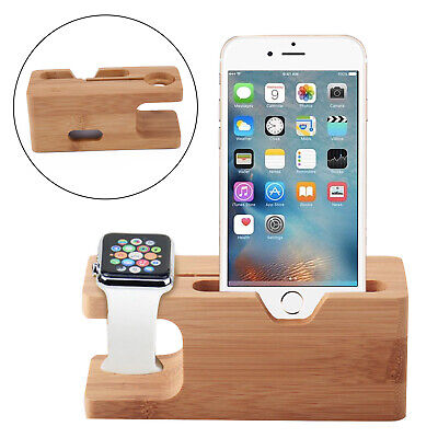 $ CDN13.64 • Buy Bamboo Charging Dock Station Charger Holder Stand For IWatch Apple Watch IPhone