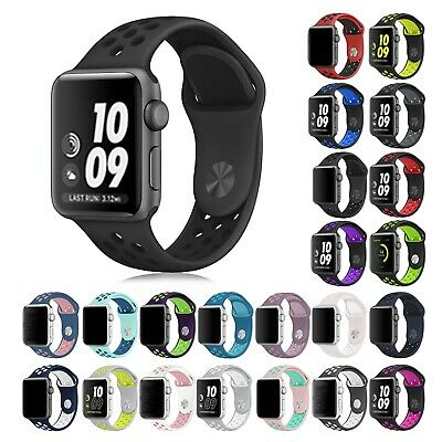 $ CDN5.49 • Buy 38/42/40/44/mm Silicone Sport IWatch Band Strap For Watch Series 5 4 3 2 1