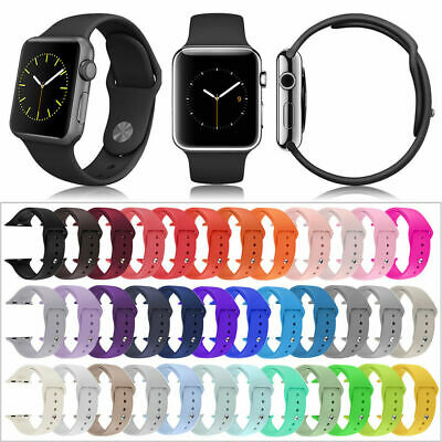 $ CDN4.49 • Buy Replacement Sport Silicone Strap Band For Apple Watch Series 5/4/3 38/40/42/44mm