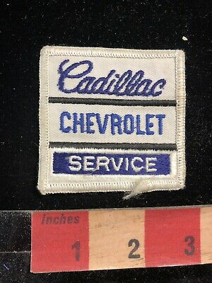 Vtg - Yellowed Back Auto CADILLAC CHEVROLET SERVICE Patch Advertising Patch 95MI • 8.99$