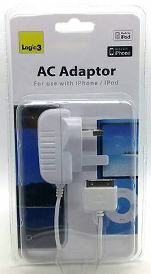 Genuine Logic 3 Fast AC Adapter For Apple IPhone & IPod Electronics White New • 5.99£