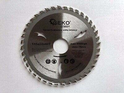 £5.99 • Buy Saw Blade Angle Grinder For Wood Disc Circular 115x22x40T Max 9000rpm 75m/s