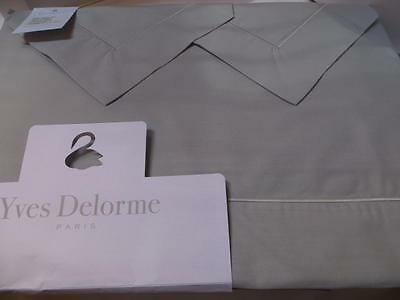 AU460.70 • Buy Yves Delorme Parure Grey Cotton Percale King Sheet Set New