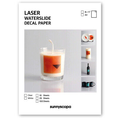 Sunnyscopa DIY Laser Waterslide Decal Paper Slim 10μm • 67.44£