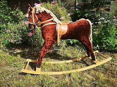 £100 • Buy Traditional Rocking Horse With Saddle And Stirrups - Vintage Child's Toy/prop