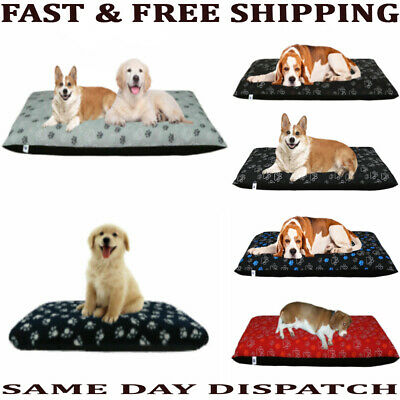 £2.99 • Buy Dog Bed Large & Medium Size Removable Zipped Cover Washable Bed Cushion Covers