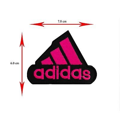 Sports Brand Logo Iron On/sew On Embroidered Patch Badge Adidas Black/pink • 1.99£
