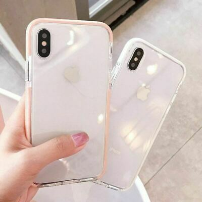 AU10.89 • Buy IPhone 11 Pro MAX XR XS 8 Plus Clear Shockproof Tough Silicone Bumper Cover Case