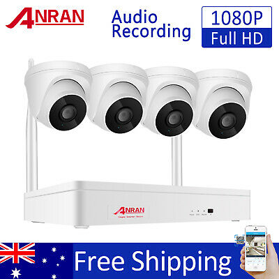 AU219.99 • Buy ANRAN 8CH Wireless Outdoor Home Security CCTV Camera System WIFI IP Audio Record