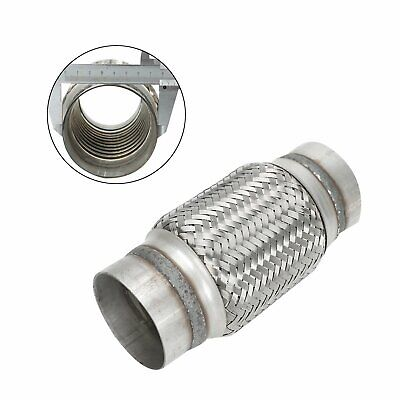"""Exhaust Flex Pipe Stainless Steel Double Braid 3/"""" Inlet x 6/"""" Long"""