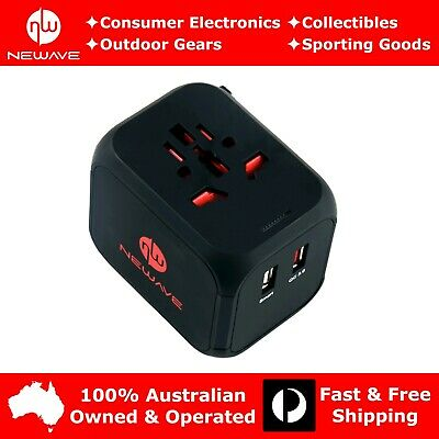 AU28.79 • Buy NEWAVE Smart Universal International Travel Adapter USB QC3.0 Fast Quick Charger