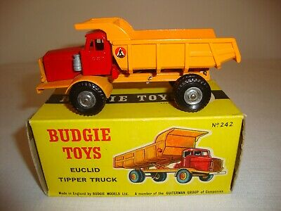 BUDGIE TOYS 242 EUCLID TIPPER TRUCK - EXCELLENT In Original BOX • 65£