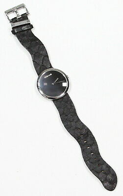 Roberto Cavalli Charcoal Round Face Leather Curvy Band Automatic Wristwatch • 168.54£