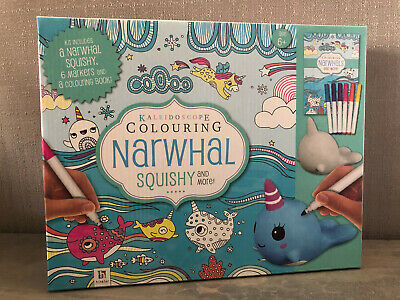 AU16.95 • Buy Brand New In Box Hinkler Kaleidoscope Colouring Squishy Narwhal Kit Age 6+ Years