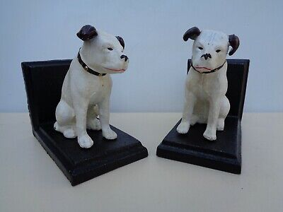 Pair HMV NIPPER BOOK ENDS Nice Collectable Of Fabulous Gift. (vo) • 24.75£