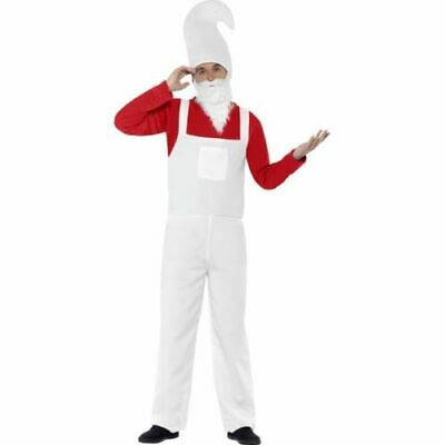 Mens Smiffys Garden Gnome Red Halloween Costume Funny Stag Night Fancy Dress M • 11.95£