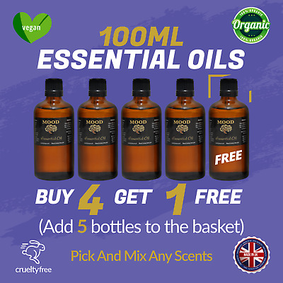 Essential Pure Oil 100ml Natural Aromatherapy Oils Fragrances Organic Diffuser • 10.99£