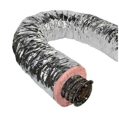 Duct Air Flex 4inx25ft Silver,No F8IFD4X300,  Ll Building Products • 44.99$