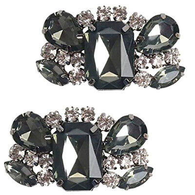 £3.89 • Buy 2Pcs Rhinestone Crystal Metal Shoe Clips Shoe Charms Decor For Wedding Party
