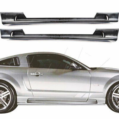 $200 • Buy Urethane SLN Style 2pc Side Skirts Fits Ford Mustang 05-09 KBD