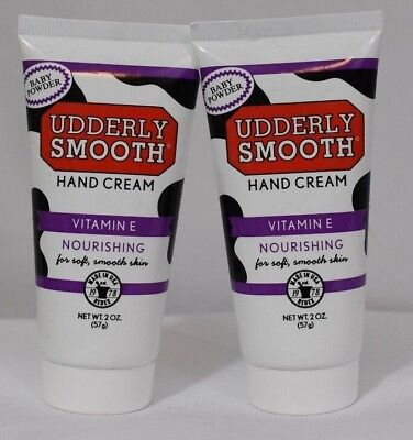 AU10.30 • Buy UDDERLY SMOOTH Vitamin E BABY POWDER Scent 2 Oz HAND CREAM Lotion LOT Of 2 NEW