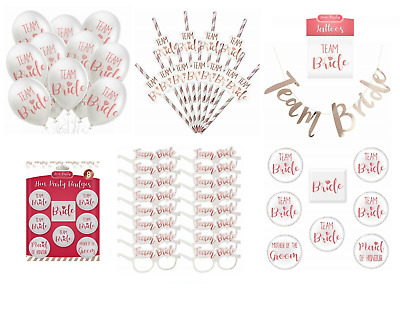 HEN PARTY FAVOURS TEAM BRIDE Fillers Night Do Fancy Dress Tribe To Be Squad UK • 2.07£