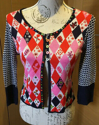 £135 • Buy Christian Lacroix Bazar Black Multicoloured Top With Beading Details Size M Used