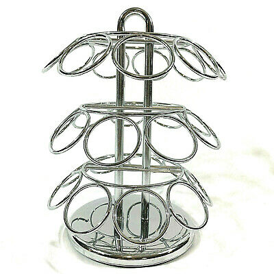 $10.99 • Buy Kuerig K-cup Coffee Pods Holder Silver Swivel 3 Tiers Holds 27 K-Cups