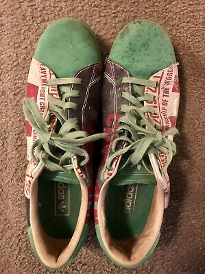 $70 • Buy RARE 2007 Green Adidas Muhammad Ali Collection Confidence Size 13 Sneakers