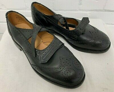 £60 • Buy SCOTTISH BLACK LEATHER PIPER BROGUES - Size: 7 Medium  , British Army Issue