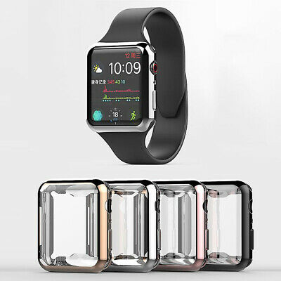 $ CDN5.51 • Buy For Apple Watch Series 3 4 Full Protective Case Screen Protect Cover IWatch 42mm
