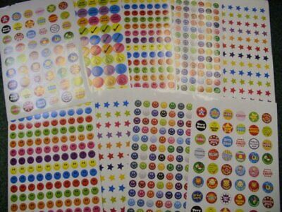 1000+ Childrens Reward Chart Smiley Face Well Done Stickers • 3.99£