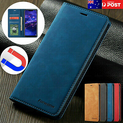 AU11.87 • Buy For IPhone 8 7 6s Plus X XR XS Max Case Magnetic Flip Leather Wallet Cards Cover