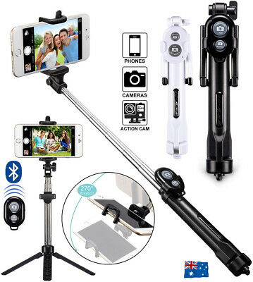 AU11.98 • Buy Unipod Selfie Stick Handheld Tripod Bluetooth Shutter For IPhone 12 Pro Samsung