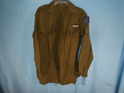 VINTAGE WWII 1940s US ARMY MENS DRESS SHIRT AIR CORPS BOMBADIER RCK • 73.14£