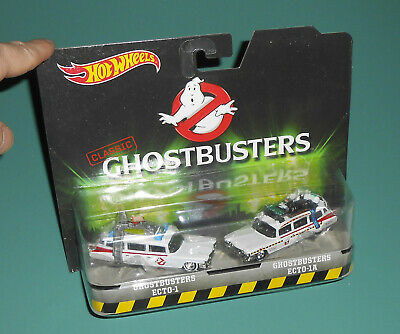 2016 GHOSTBUSTERS Mattel Hot Wheels Classic ECTO-1 & ECTO-1A Movie Cars Toy • 18.08£