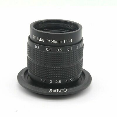 AU78.74 • Buy 50mm F1.4 CCTV Movie Lens+C Mount To Sony A6300 A6000 A5000 A5100 NEX5N NEW