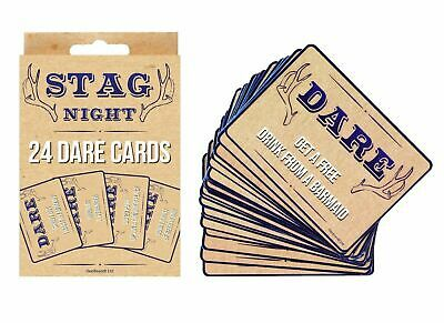 £2.99 • Buy 24 STAGS DARE CARDS Stag DO PARTY Night Out Blue Accessories Guys Novelty Box UK