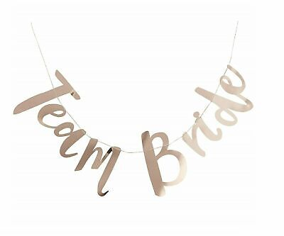 £3.97 • Buy  HEN PARTY BANNER TEAM BRIDE Rose Gold Bride To Be Bunting Wedding Decoration UK